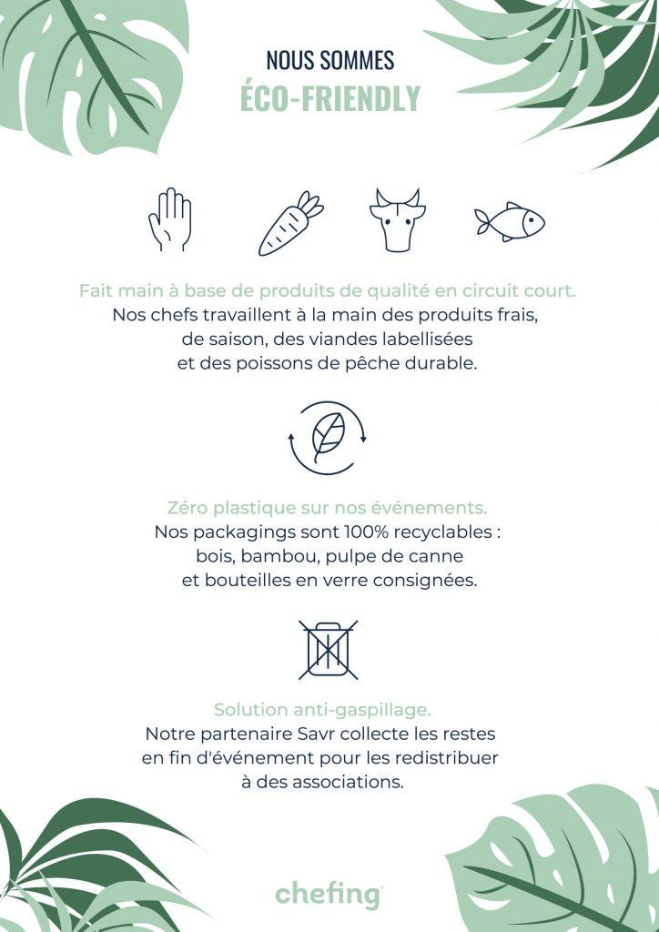 valeurs eco responsable chefing
