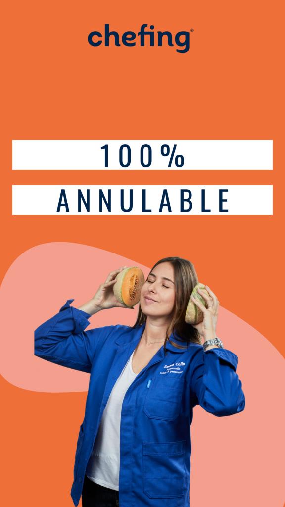 le modèle agile de chefing permet une offre événementielle 100% annulable