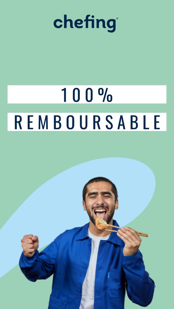 le modèle agile de chefing permet une offre événementielle 100% remboursable