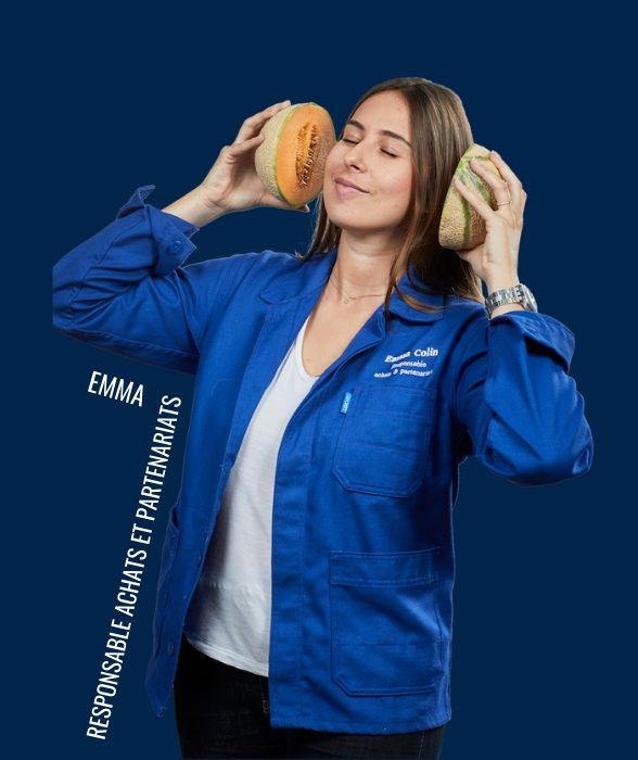 Emma, responsable achats et partenariats dans l'équipe chefing