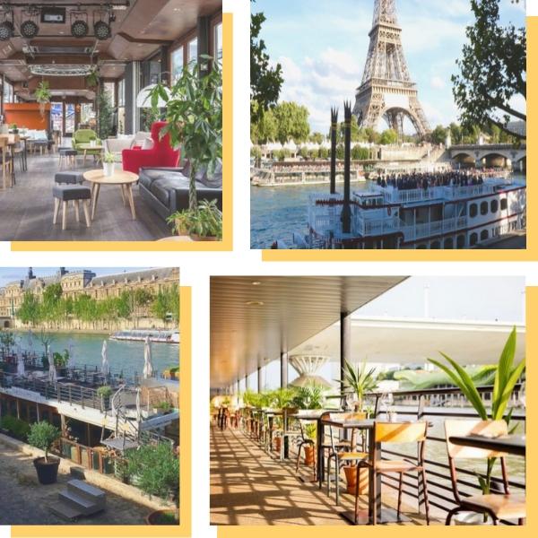 Sélection de lieux sur le bord de Seine