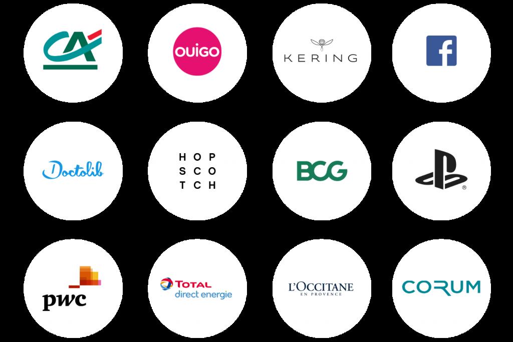 Logos des clients pour qui chefing a organisé des événements