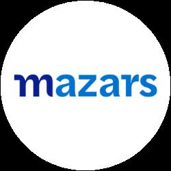 Logo mazars rond blanc