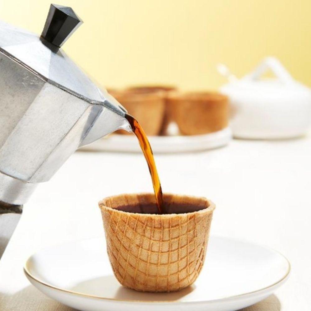 Tasse de café comestible