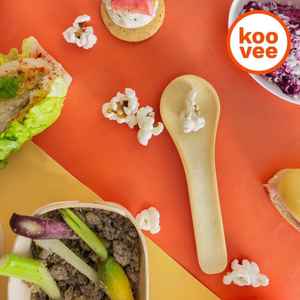 Les couverts comestibles Koovee pour des événements chefing éco-responsables