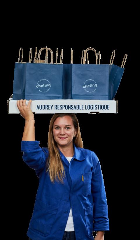 Audrey, responsable logistique dans l'équipe chefing